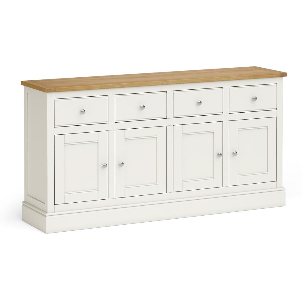 Chichester Extra Large Sideboard in Ivory by Roseland Furniture