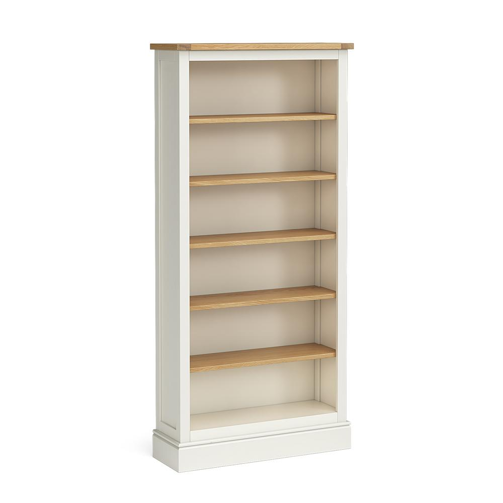Chichester Large Bookcase in Ivory by Roseland Furniture