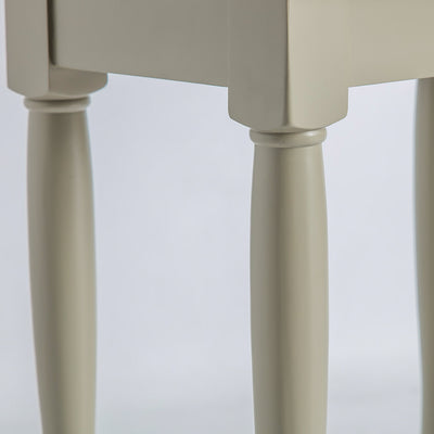 Close up of the curved legs on the Chichester Ledum Green Nest of Tables
