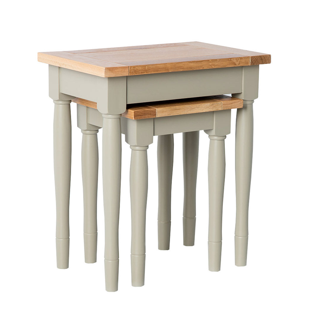 Chichester Ledum Green Nest of Tables from Roseland Furniture