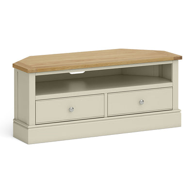 Chichester Corner TV Stand Ledum Green by Roseland Furniture
