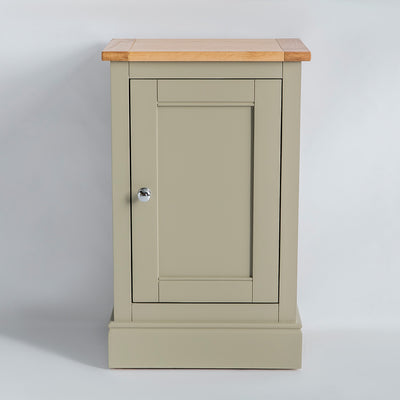 Front view of the Chichester Ledum Green Mini Cupboard
