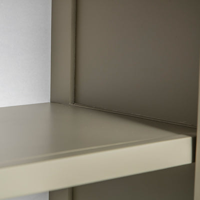 Close up of the fixed shelf on the Chichester Ledum Green Mini Cupboard