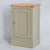 Side view of the Chichester Ledum Green  Slim Mini Cupboard