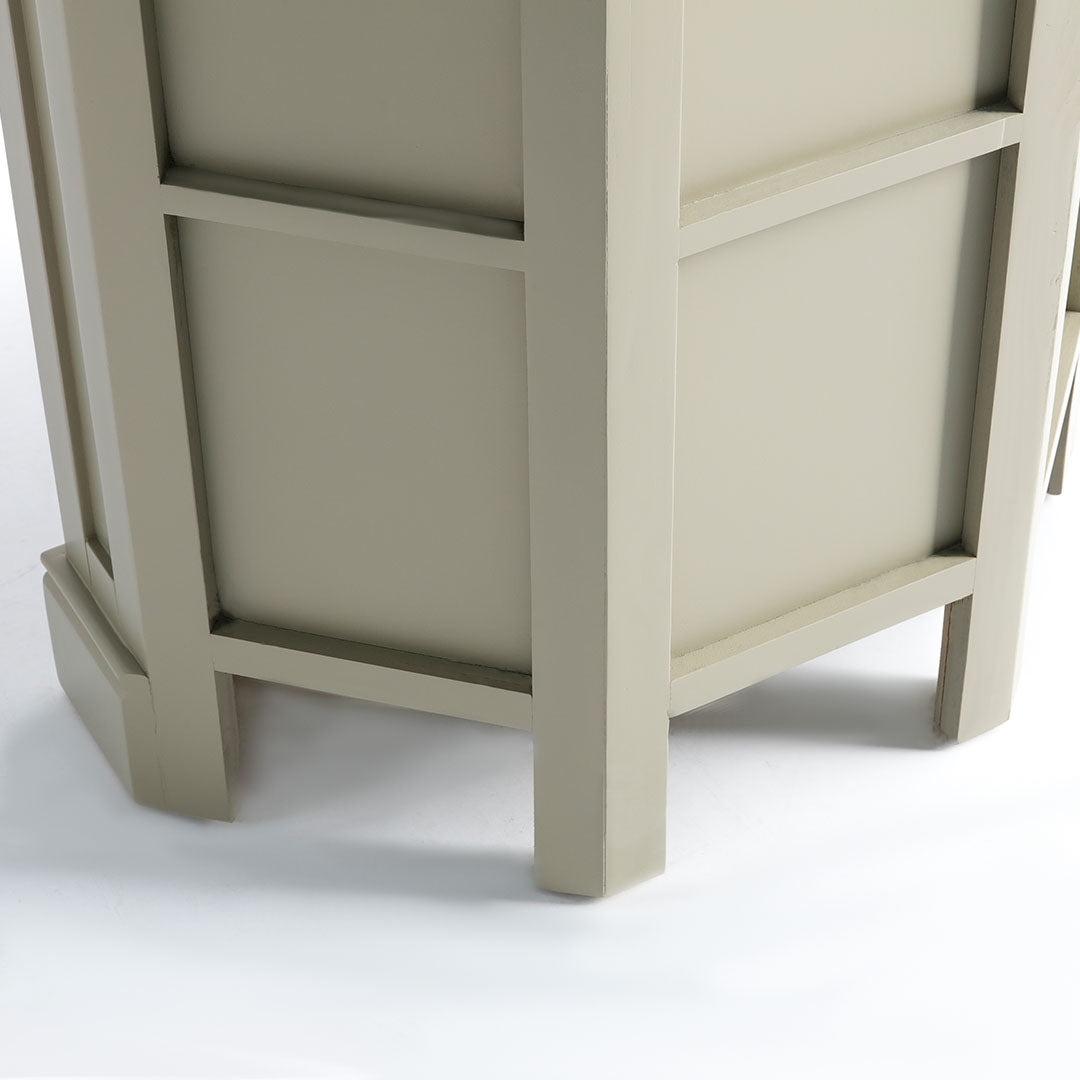 Rear view of the Chichester Ledum Green Corner Cupboard