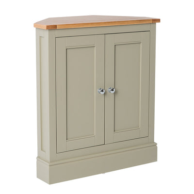 Chichester Ledum Green Corner Cupboard from Roseland Furniture