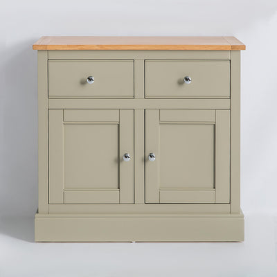 Front view of the Chichester Ledum Green Small Sideboard