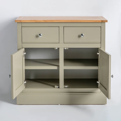 Internal view of the Chichester Ledum Green 2 Door Sideboard