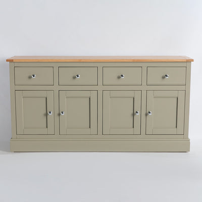 Front view of the Chichester Ledum Green 4 Door Sideboard