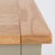 Close up of the oak top wood grain on the Chichester Ledum Green Extra Large Sideboard