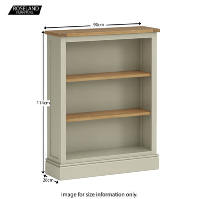 Chichester Small Bookcase in Ledum Green - Size Guide