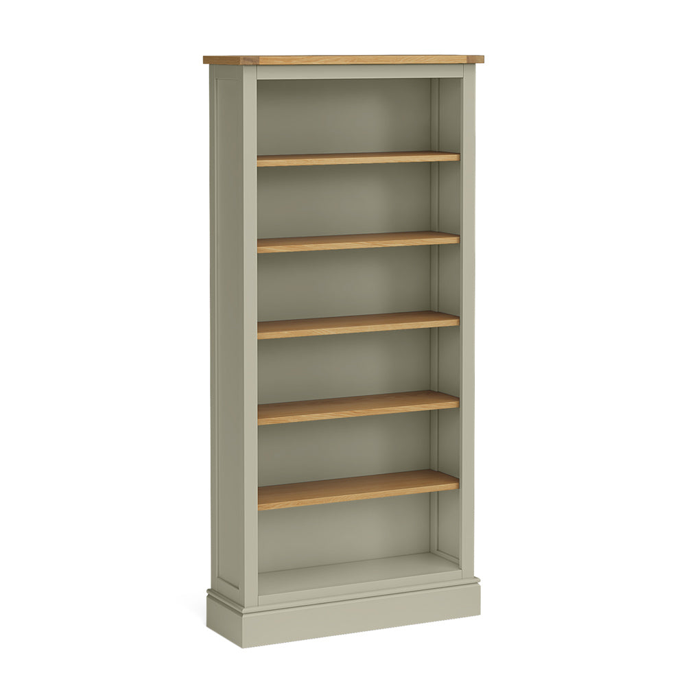 Chichester Large Bookcase in Ledum Green by Roseland Furniture