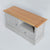Top view of the Chichester Grey Small TV Stand