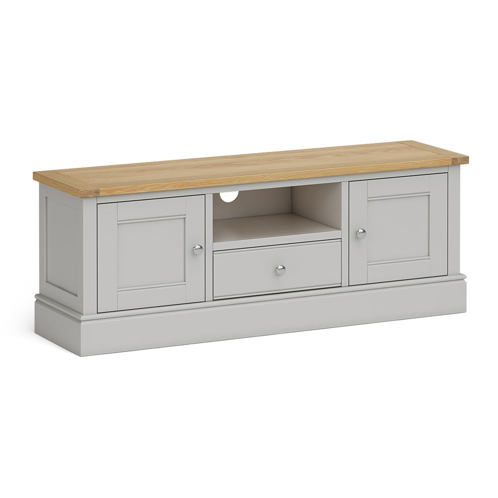 Chichester 135cm TV Stand Chester Grey by Roseland Furniture