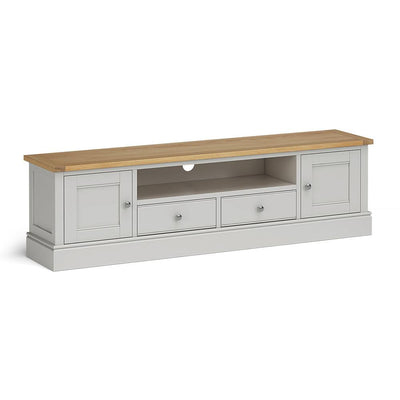 Chichester 180cm TV Stand in Chester Grey by Roseland Furniture