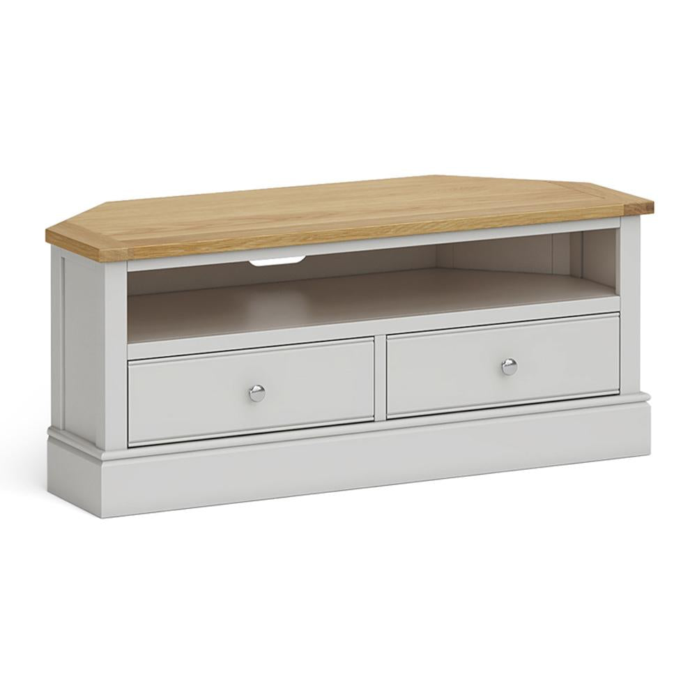 Chichester Corner TV Stand Chester Grey by Roseland Furniture
