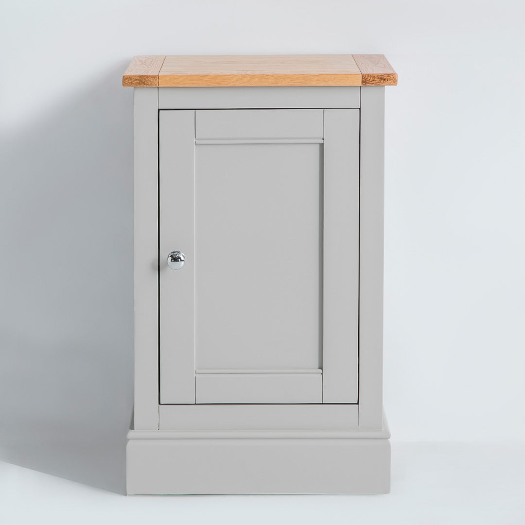 Front view of the Chichester Chester Grey Mini Cupboard