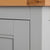 Close up of the painted grey solid wood frame on the Chichester Chester Grey Mini Cupboard