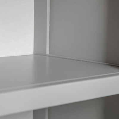 Close up of the fixed shelf on the Chichester Chester Grey Mini Cupboard