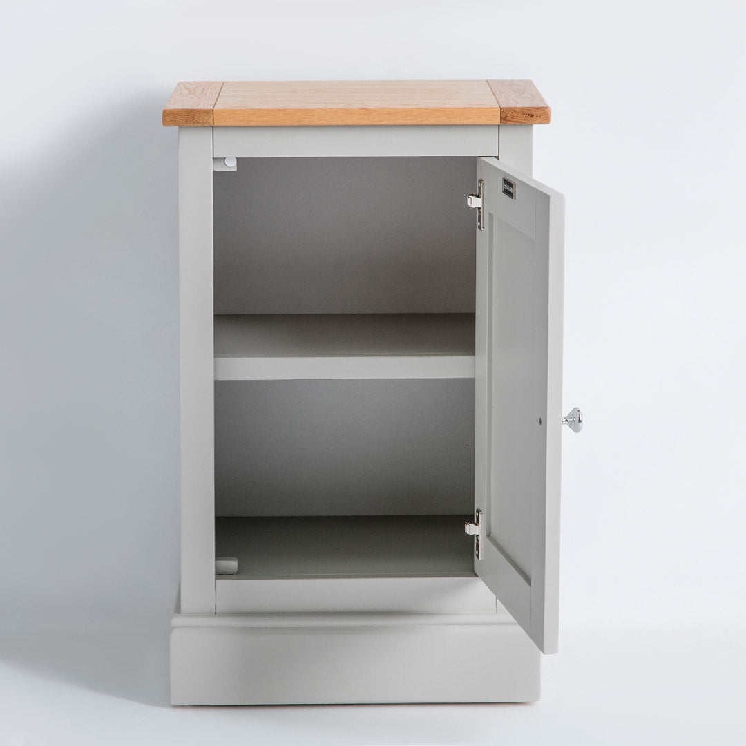 Internal view of the Chichester Chester Grey Mini Cupboard