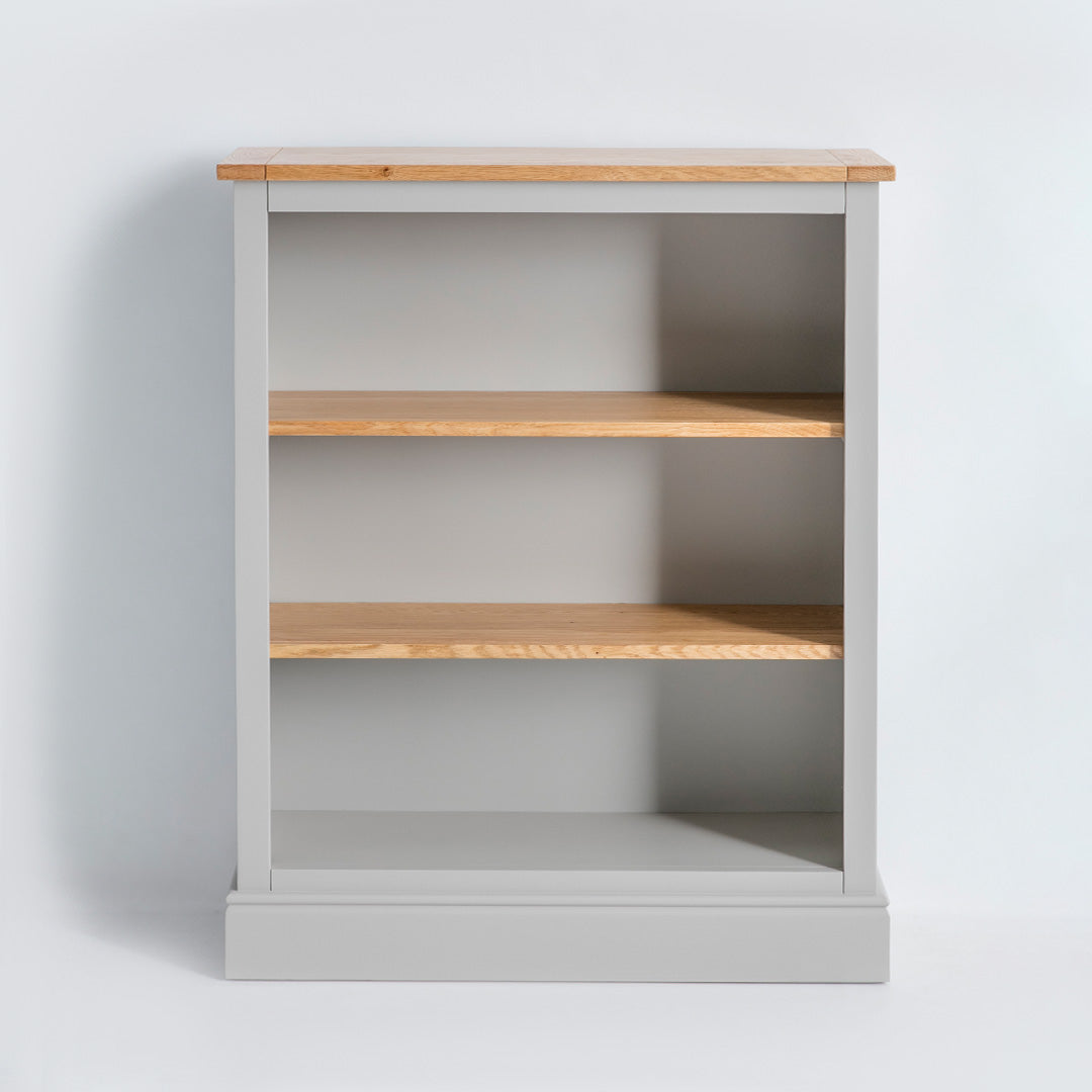 Front view of the Chichester Chester Grey Small Bookcase