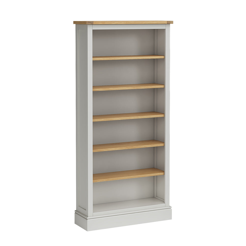 Chichester Large Bookcase in Chester Grey by Roseland Furniture