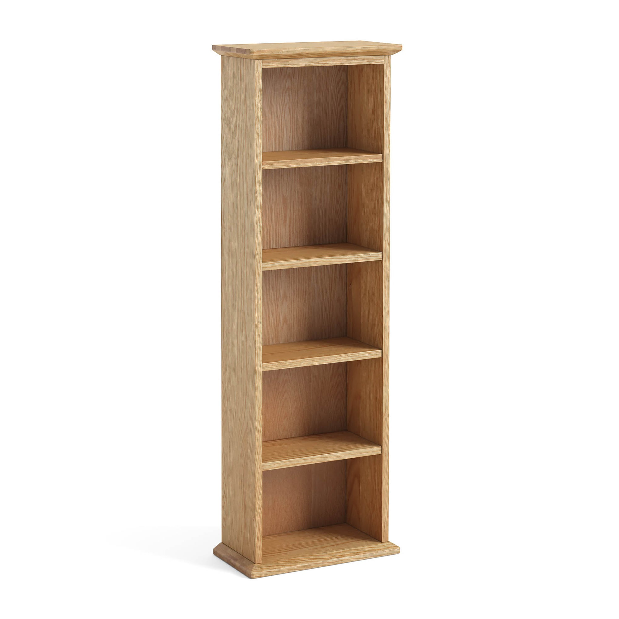 Light Oak Double DVD Tower by Roseland Furniture
