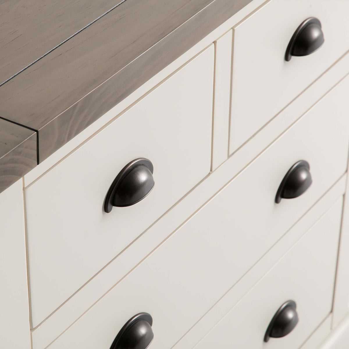 Hove Ivory 2 Over 2 Chest of Drawers - front