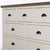 Hove Ivory 3 Over 4 Chest of Drawers - Close up of all drawer fronts