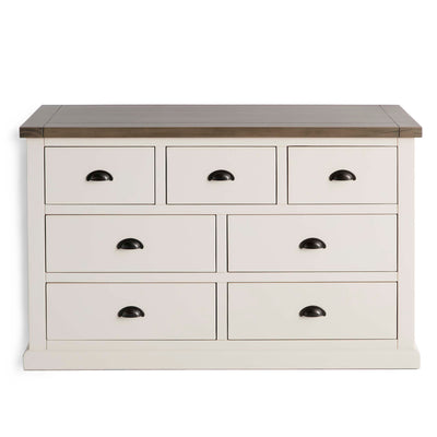 Hove Ivory 3 Over 4 Chest of Drawers by Roseland Furniture