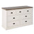 Hove Ivory 3 Over 4 Chest of Drawers - Side view