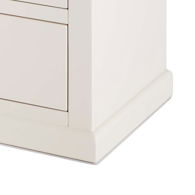 Hove Ivory 3 Over 4 Chest of Drawers - Close up of base