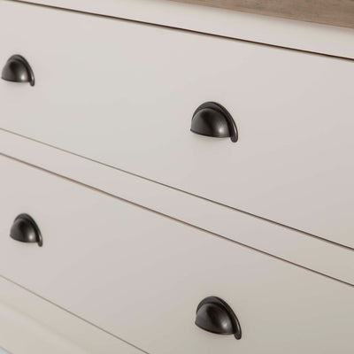 Hove Ivory Double Wardrobe with Drawers - Close up of drawer fronts