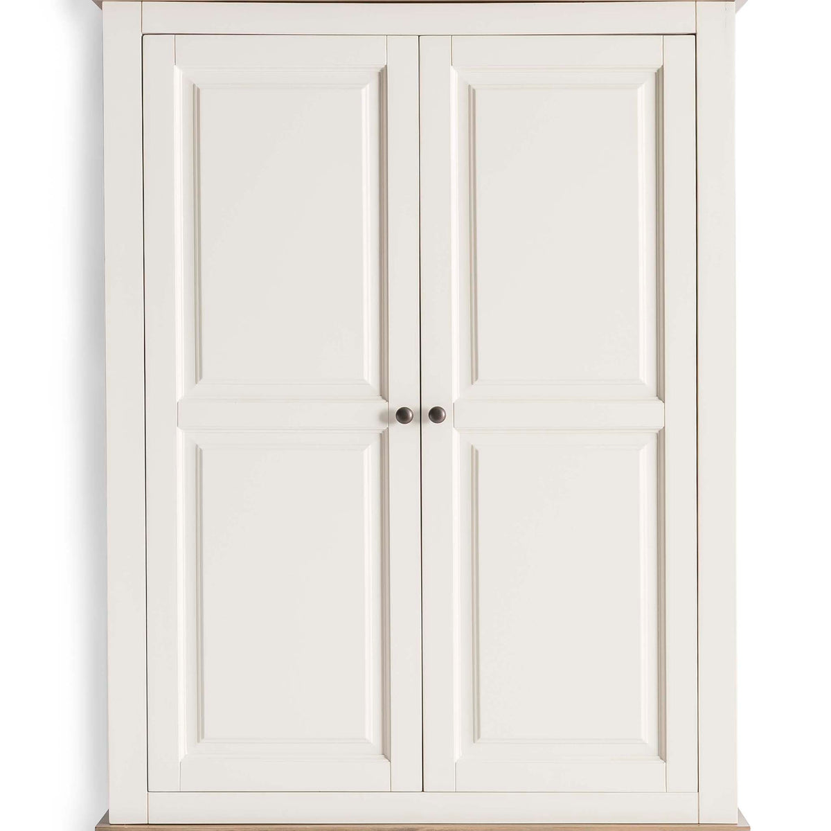 Hove Ivory Double Wardrobe with Drawers - Close up of wardrobe doors