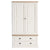 Hove Ivory Double Wardrobe with Drawers by Roseland Furniture