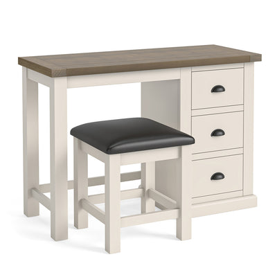 Hove Ivory Dressing Table & Stool by Roseland Furniture