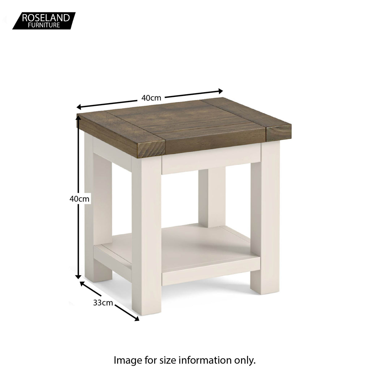 Dimensions - Hove Ivory Lamp Table