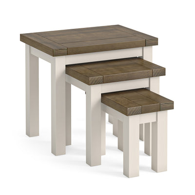 Hove Ivory Nest of Tables by Roseland Furniture