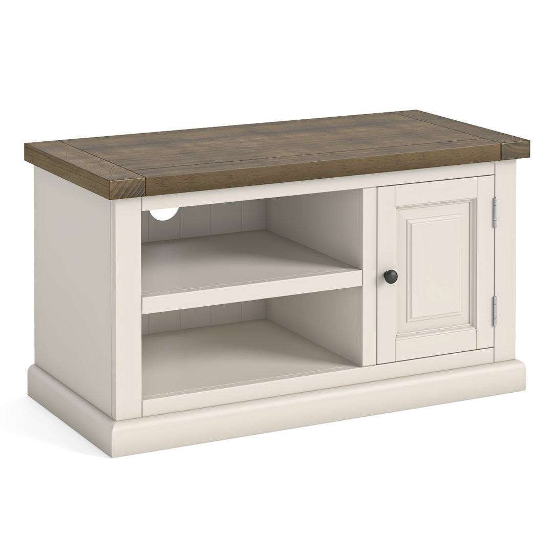 Hove Ivory 90cm Small TV Stand by Roseland Furniture