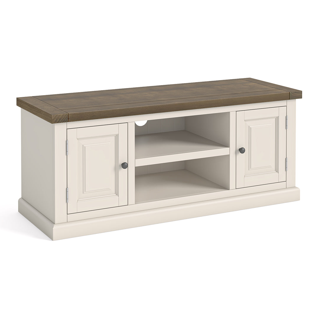 Hove Ivory 120cm Large TV Stand by Roseland Furniture