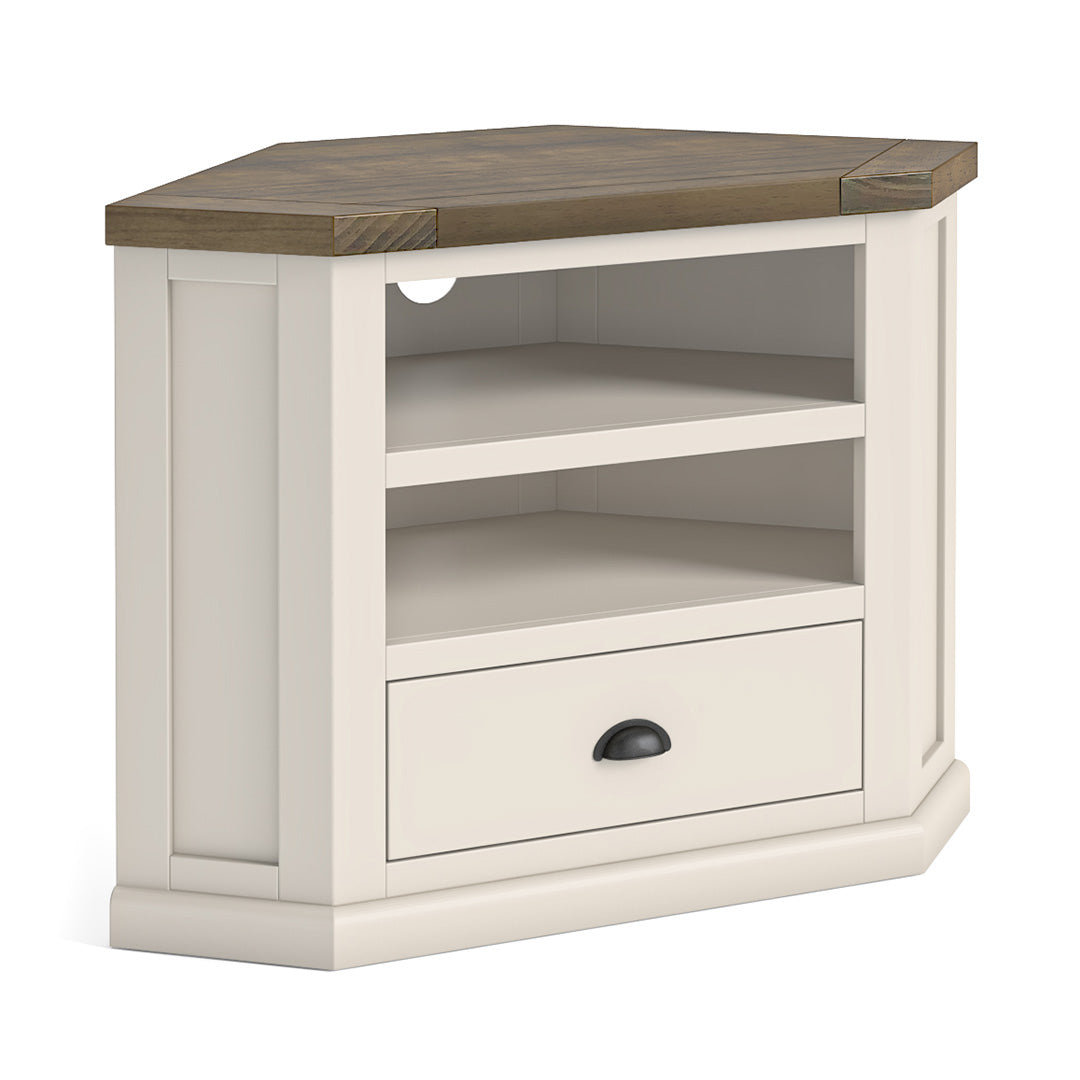 Hove Ivory Corner TV Stand by Roseland Furniture