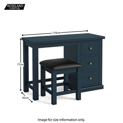 Dimensions - Cheltenham Blue Dressing Table & Stool