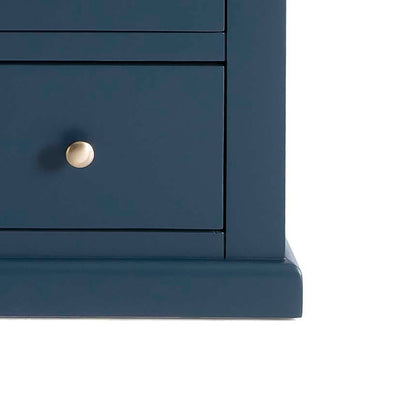 Cheltenham Blue Dressing Table & Stool - Close up of base of dressing table