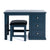 Cheltenham Blue Dressing Table & Stool by Roseland Furniture