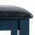 Cheltenham Blue Dressing Table & Stool - Close up of top of stool