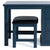 Cheltenham Blue Dressing Table & Stool - Close up of stool