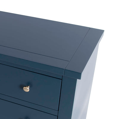 Cheltenham Blue Dressing Table & Stool - Close up of top