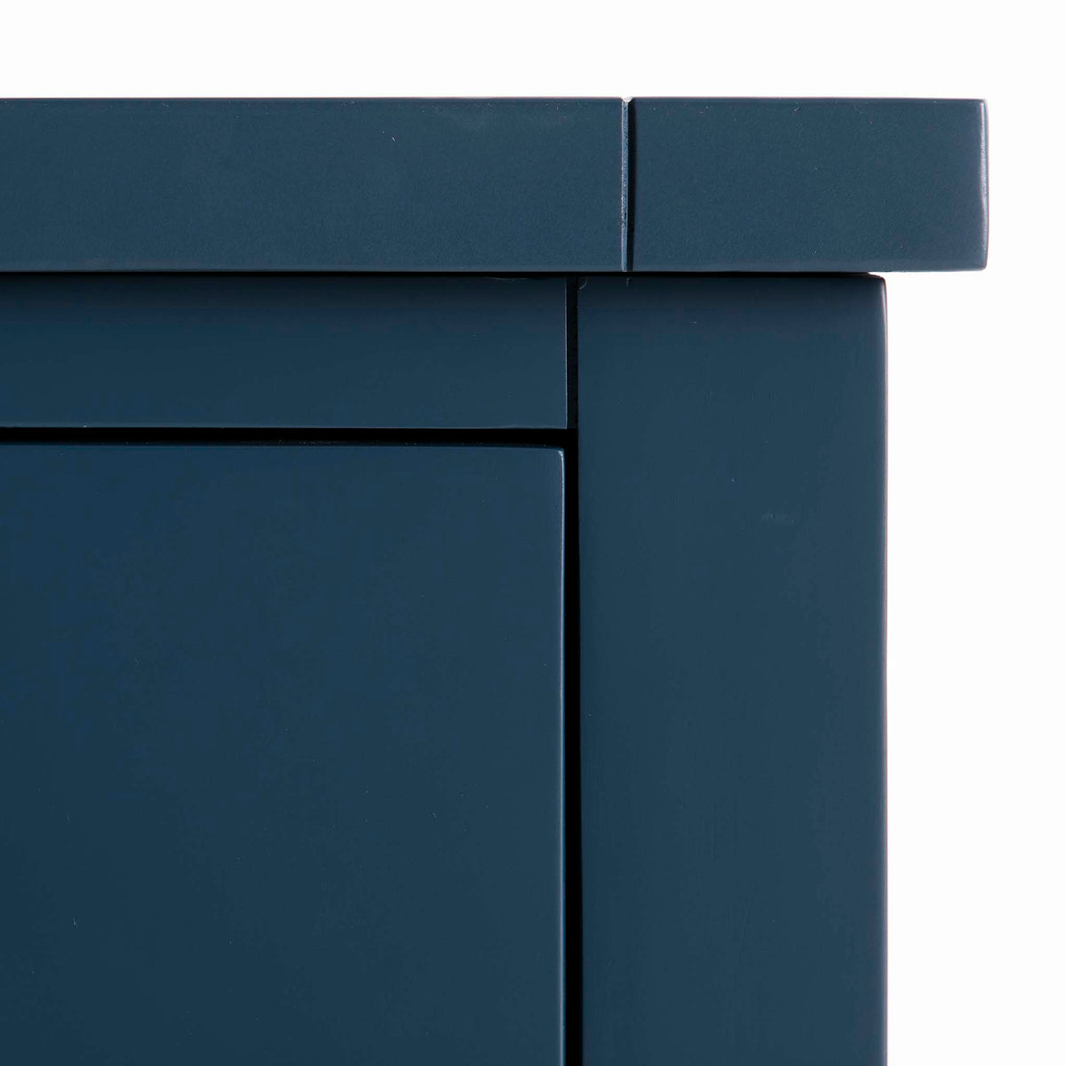Cheltenham Blue Dressing Table & Stool - Close up of front top corner