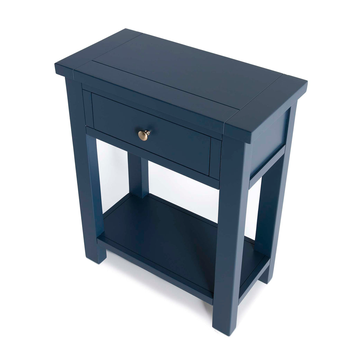 Cheltenham Blue Telephone Table - Looking down on side of table