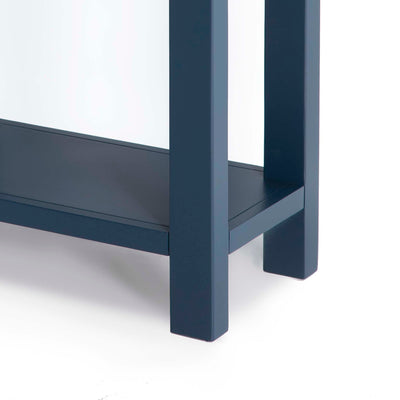 Cheltenham Blue Telephone Table - Close up of lower shelf and legs